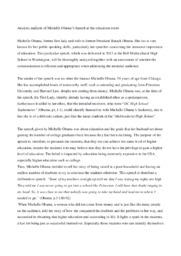 Michelle Obama's Speech | Analytical essay | 10 i karakter