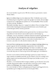 Analyse af kortfilmen Valgaften   10 i karakter