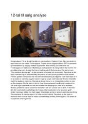 12-tal til salg   Analyse   Frederik Chow   12 i Karakter