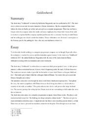 'Goldenhawk' | Analytical essay | 10 i karakter