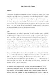 'Why Don't You Dance' | Analytical essay | 10 i karakter