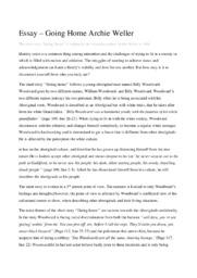 Essay   Going Home Archie Weller   Essaynoter