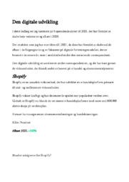 Den digitale udvikling | Noter | Afsætning
