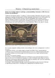 Urbanitet og modernistet   Historienoter