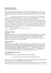 Matematik SRO udkast | SRO noter