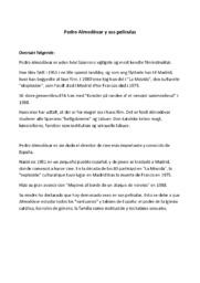 Pedro Almodóvar y sus películas | Oversættelse og opgaver