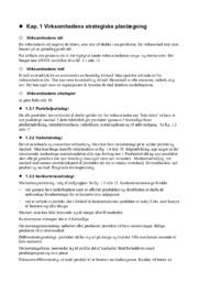 Virksomhedens strategiske planlægning | Noter