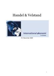 Handel og Velstand | IØ opgave | 10 i karakter