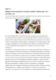 Convenience produkter | Noter | Afsætning