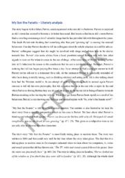 My Son the Fanatic – Literary analysis