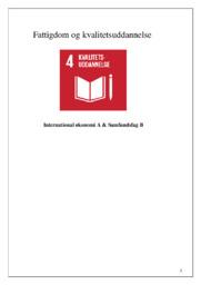 Fattigdom og kvalitetsuddannelse | DSO | 10 i karakter