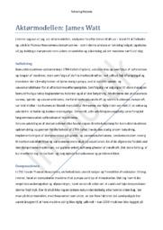 Aktørmodellen – James Watt | Dampmaskine | Teknologihistorie