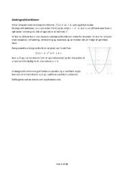 Andengradsfunktioner | Noter | Over 15 sider
