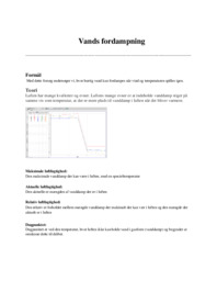 Vands fordampning | Noter