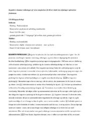 Udviklingspsykologi   Noter   Over 10 sider