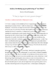 """Analyse, fortolkning & perspektivering af """"Ane-Mette"""""""