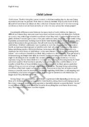 Child Labour | Essay