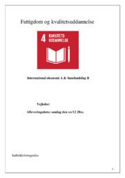 Fattigdom og kvalitetsuddannelse | SOP | 10 i Karakter