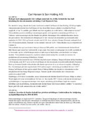 Carl Hansen & Søn Holding AS | VØ opgave | 12 i karakter