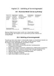 Udvikling af forretningsmodel   Noter til kapitel 23