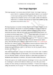 """Eksamenssæt 30 maj 2013 – 5. Litterær artikel """"Den lange dagsrejse"""" af Gyrðir Eliasson"""