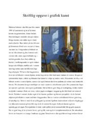 Skriftlig opgave i grafisk kunst | 10 i karakter