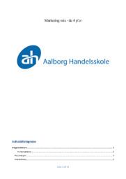 Marketing | Noter til over 10 sider | Afsætning