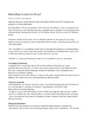 Rekordhøjt resultat hos Hessel   Afsætning   Noter