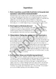 Imperialisme spørgsmål | Hsitorie