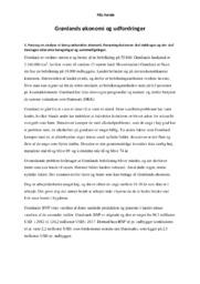 Grønlands økonomi og udfordringer | IØ | 10 i karakter