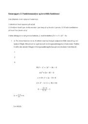Funktionsanalyse og invertible funktioner   Emneopgave