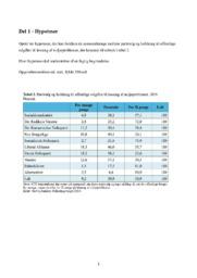 Partivalg | Hypostese og undersøgelse | 10 i karakter