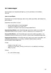 Vækstrategier | Kapitel 10.1 | Noter