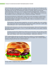 Fastfoodrestauranter | Analyse af konkurrencesituationen | 10 i karakter