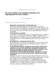 Patienten | Dansk Opgaver | Opg A-E | 10 i Karakter