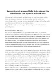 Tale | Sammenlignende Analyse | Sofie Lindes | 10 i Karakter