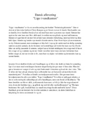 Lige i vandkanten | Noter Analyse | Claire Keegan