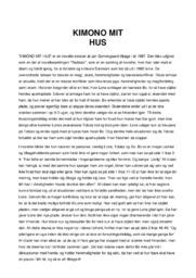 Kimono Mit Hus | Analyse | Jan Sonnergaard | 10 i Karakter