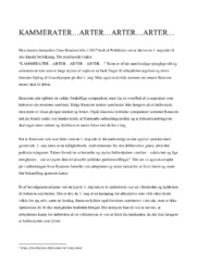 Kammerater   Analyse   Line Knutzon   12 i Karakter