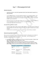 Afsætningsnoter Kapitel 7 | Efterspørgselsforhold