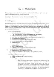 Afsætningsnoter Kapitel 16 | Marketingmix