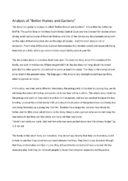 'Better Homes and Gardens'   Analytical essay