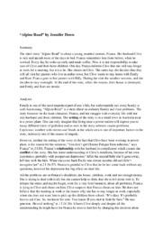 'Alpine Road' by Jennifer Down   Analysis