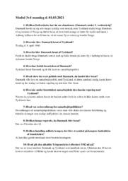 Besættelsen af Danmark | Historie noter