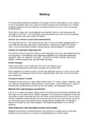 Briefing | Markedskommunikation | Noter