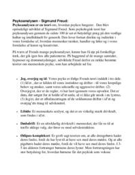 Psykologiske retninger   Over 15 siders noter