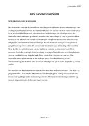Den danske økonomi | Samfundsfags | 10 i karakter