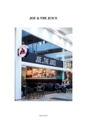 Cafe og barmarkedet | Joe and the Juice | Redegørelse