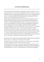 Er verden lille | Analyse | Naja Marie Aidt | 10 i Karakter