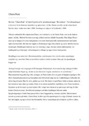 Uhuru Peak | Analyse | Jakob Ejersbo | 10 i Karakter